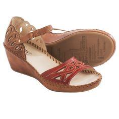 Pikolinos Margarita Wedge Sandals - Leatherin Sandia