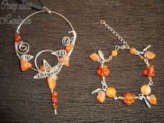Necklace and bracelet with natural stone - Agate
