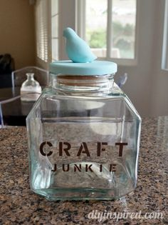 Easy Thrift Store Storage Jar Upcycle