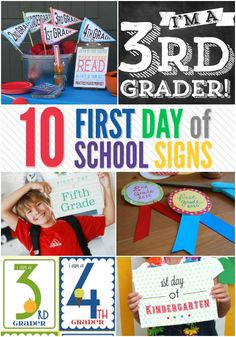 Back to School is right around the corner. Here are 10 First Day of School Signs. Pick your favorite Back to School printable and download it FREE!