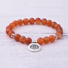 Orange Carnelian Sacral Chakra Bracelet Sacral Chakra, Chakra Healing, Hope Symbol, Chakra Bracelet, Bracelet Sizes, Carnelian, Beaded Bracelets, Gemstones, Orange