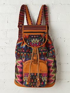 Zunil Backpack --- great ideas in the photo to add to a backpack i make