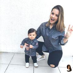 #babava #coleção #da #eu #filho #foi #Hoje #Ja #MAE #mom and baby outfits #muito #nosso #ru #Tal Hoje nosso look tal mãe tal filho foi da coleção que eu já babava muito Ru B...        Hoje nosso look tal mãe tal filho foi da coleção que eu já babava muito Ru Baricelli da Keko Baby que tem peças super versáteis e SEM… Mom Daughter Matching Outfits, Mom And Baby Outfits, Little Boy Outfits, Matching Family Outfits, Baby Outfits Newborn, Kids Outfits, Kids Fashion Boy, Toddler Fashion, Mommy And Son