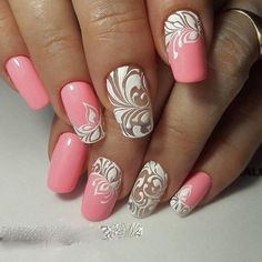 Hey there lovers of nail art! In this post we are going to share with you some Magnificent Nail Art Designs that are going to catch your eye and that you will want to copy for sure. Nail art is gaining more… Read more › Fabulous Nails, Gorgeous Nails, Pretty Nails, Simple Nail Art Designs, Easy Nail Art, Hot Nails, Pink Nails, Nagellack Design, Manicure E Pedicure