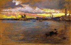 The Storm - Sunset James Abbott McNeill Whistler - 1880