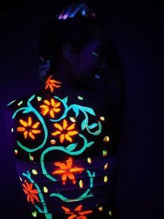 Amazon.com/?utm_content=buffer27884&utm_medium=social&utm_source=pinterest.com&utm_campaign=buffer : Neon Glow in the Dark Body Paint #1 Premium Set (6 pack of 2 oz. bottles) Glows Brighter, UV Blacklight Reactive- Safe and Non-Toxic! Fluorescent Makeup Set Dries Quickly, Goes on Smooth, Not Clumpy : Beauty