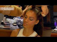 Hair & Makeup - Gianfranco Ferre Backstage - Milan Fashion Week Spring 2...