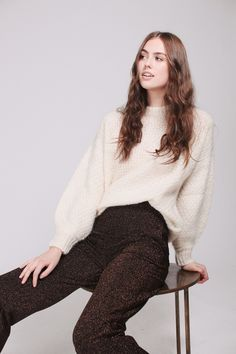 April Mohair Sweater - Ivory by Billie & Me Mohair Sweater, Ivory, Turtle Neck, Sweaters, Fashion, Moda, Fashion Styles, Sweater, Fashion Illustrations