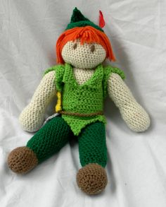 Disney's Peter Pan Crochet Doll on Etsy, $25.00
