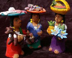 aguilar market woman, tortila seller, vendedora, mexican folkart, whimsicle art