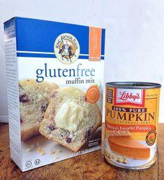 Gluten-Free Pumpkin Muffins Start with a King Arthur Flour gluten-free muffin mix, and turn it into pumpkin muffins, cinnamon chip muffins, cranberry-orange muffins, or. Muffins Sans Gluten, Dessert Sans Gluten, Gluten Free Sweets, Gluten Free Cooking, Dairy Free Recipes, Gf Recipes, Potato Recipes, Sweet Recipes, Baking Recipes