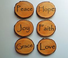 Wood Slice Coasters Coasters Positive Thoughts by NestsAndBurrows