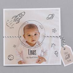 Unsere Babykarte Milky Way - verschickt Liebe und schöne Geburtskarten