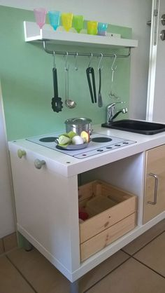 recycling kinderk che bauanleitung zum selber bauen cool kitchen j t k pinterest wood. Black Bedroom Furniture Sets. Home Design Ideas