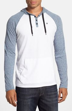 88535418 Hurley 'Valley' Long Sleeve Henley Hoodie available at #Nordstrom $40.00  Free Shipping Item