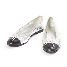 SHOP | Silver Chanel flats