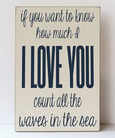 Cream & Navy Blue 'Waves of the Sea' Plaque | Something special every day