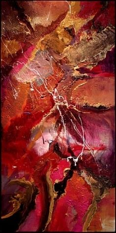 """Brazilian Nights""  (Detail) by Scott Mattlin Acrylic ~ 48"" x 24"""