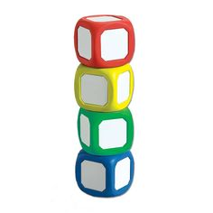 "A versatile manipulative to create your own fraction, operation, and other specialty dice. Perfect for classroom activities! Each small die measures 2"" square and features a metal dry erase surface..."