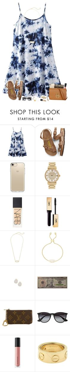 """"" by hopemarlee ❤ liked on Polyvore featuring Birkenstock, Speck, Michael Kors, NARS Cosmetics, Kendra Scott, Louis Vuitton, Ray-Ban, Bare Escentuals, Cartier and Tory Burch"