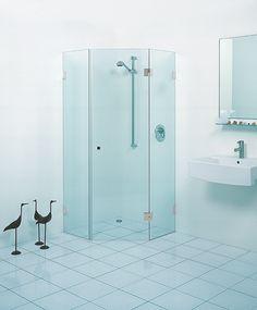 Glazen douchecabine 5-hoek | badkamer inspiratie