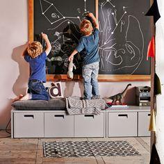 vtwonen Bank Store, kleur Betongrijs - 377030-GOG   Meubelpartner 3 Drawer Storage, Toy Storage Boxes, Kids Storage, Toy Boxes, Kids Play Corner, Shoe Storage Solutions, Designer Friends, Small Furniture, Kids Playing