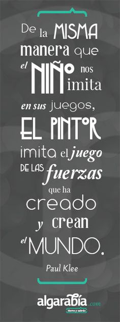 Paul Klee #quote #cita #frase