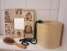 Tee-se-itse-naisen sisustusblogi: Decoupaged Mirror Frame