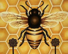 8 x 10 Fine Art Print - Honey Bee