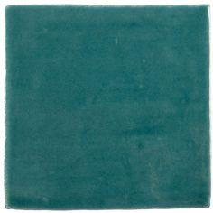 Carrelage rétro mural satiné vert 7.5 x 15 cm - AN0802007