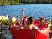 This portable hot tub is about to change the way you go camping