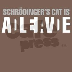 Schrodinger's Cat Men's Fitted Organic T on CafePress.com