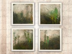 Series of 4 x 4 Paintings of Dramatic Landscapes