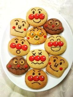 Anpanman Cookie Recipe for party favors