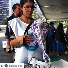 #Repost @basura_ong with @repostapp.  Ninoska de voluntaria...