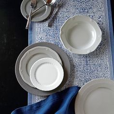 Pillivuyt Eclectique Dinnerware Collection, Grey #williamssonoma