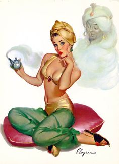 Oh MY! WHAT SHOULD I WISH FOR! By: Gil Elvgren