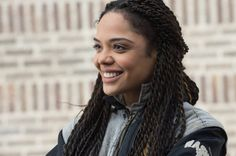Photo of Tessa Thompson in the Rocky spinoff Creed
