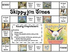 lots of great comprehension games for various picture books and for FREE -- don't miss out on these! Love me some Skippy Jon Jones! The first one I read was when I was around 26 and I cracked up laughing! Reading Activities, Literacy Activities, Teaching Reading, Fun Learning, Teaching Ideas, Reading Games, Reading Projects, Kindergarten Reading, Kids Reading