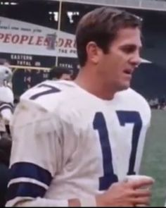 Quarterback DON MEREDITH (17) in 1967.