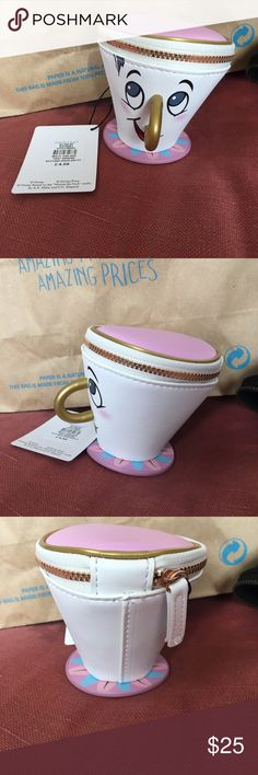 Primark Beauty and the Beast Chip coin purse Super rare chip coin purse from primark! Disney Disney Bags Clutches & Wristlets