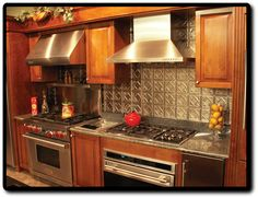 stainless steel tile behind range | Lowes Stainless Steel Stove Backsplash