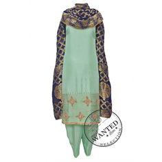 Regal sea green salwar suit adorn in rich ornate nalki work complemented with benarasi dupatta-Mohan's the chic window