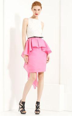 so girly and fun.  Jason Wu color block peplum dress