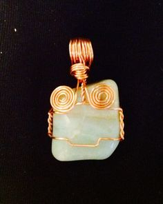 Hand Crafted Crystal Healing Jewelry   Check out this item in my Etsy shop https://www.etsy.com/listing/203327693/aztec-style-aquamarine-wire-wrapped