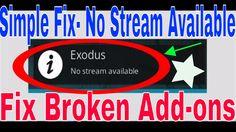 "Fix Broken Kodi |""No Stream Available"" Fix 2017| How to Fix No Stream| S..."