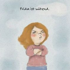 Frida is angry. (A story for children) - Hallo liebe Wolke Diy Crafts To Do, Fun Crafts For Kids, Kids And Parenting, Parenting Hacks, Kindergarten Portfolio, Fall Art Projects, German Language Learning, Free Comics, Yoga For Kids