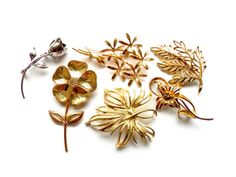 Flower Brooch Vintage Lot Instant Collection by ReneeMaeVintage