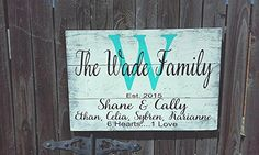 Name Sign, Family Name Sign, Blended Family Name Sign, Pallet Sign, Personalized Wedding Gift, Bridal Shower Gift, Housewarming Gift, Anniversary Gift, Shabby Chic Decor, Rustic Wood Sign, Vintage Wall Decor, Wood Wall Decor