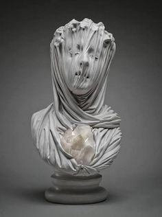 art sculpture face morbid ghost statues stone crystals Figures amethyst Bust Marble veils Livio Scarpella classical Renaissance amethyst or quartz Art Sculpture, Sculptures, Bernini Sculpture, Giuseppe Sanmartino, Statue Ange, Italian Artist, Oeuvre D'art, Contemporary Artists, Art Inspo
